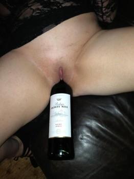 wine in cunt
